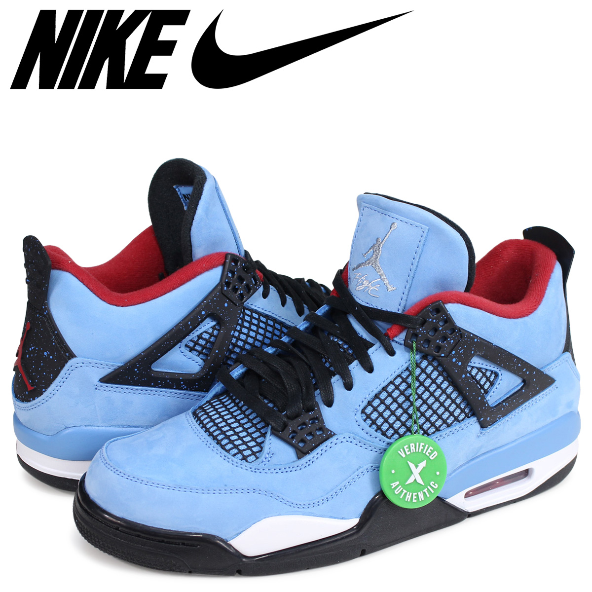 hot sale online 6e7bc a17bf NIKE AIR JORDAN 4 RETRO TRAVIS SCOTT Nike Air Jordan 4 sneakers 308,497-406  blue [187]