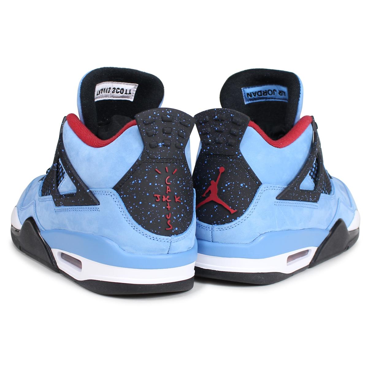 hot sale online adda1 e9405 NIKE AIR JORDAN 4 RETRO TRAVIS SCOTT Nike Air Jordan 4 sneakers 308,497-406  blue [187]