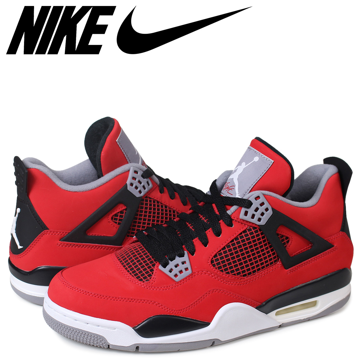 huge selection of 88a31 074b6 NIKE AIR JORDAN 4 RETRO TORO Nike Air Jordan 4 nostalgic sneakers  308,497-603 red ...