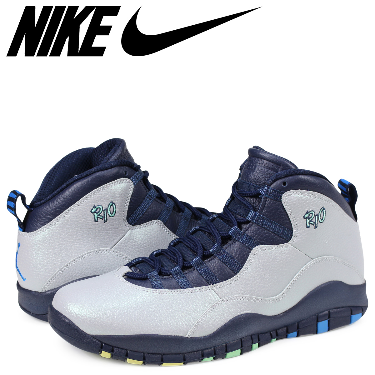 f1d25dd71038bd  SOLD OUT  NIKE Nike Air Jordan sneakers AIR JORDAN 10 RETRO RIO Air Jordan  10 retro 310805 - 019 grey mens