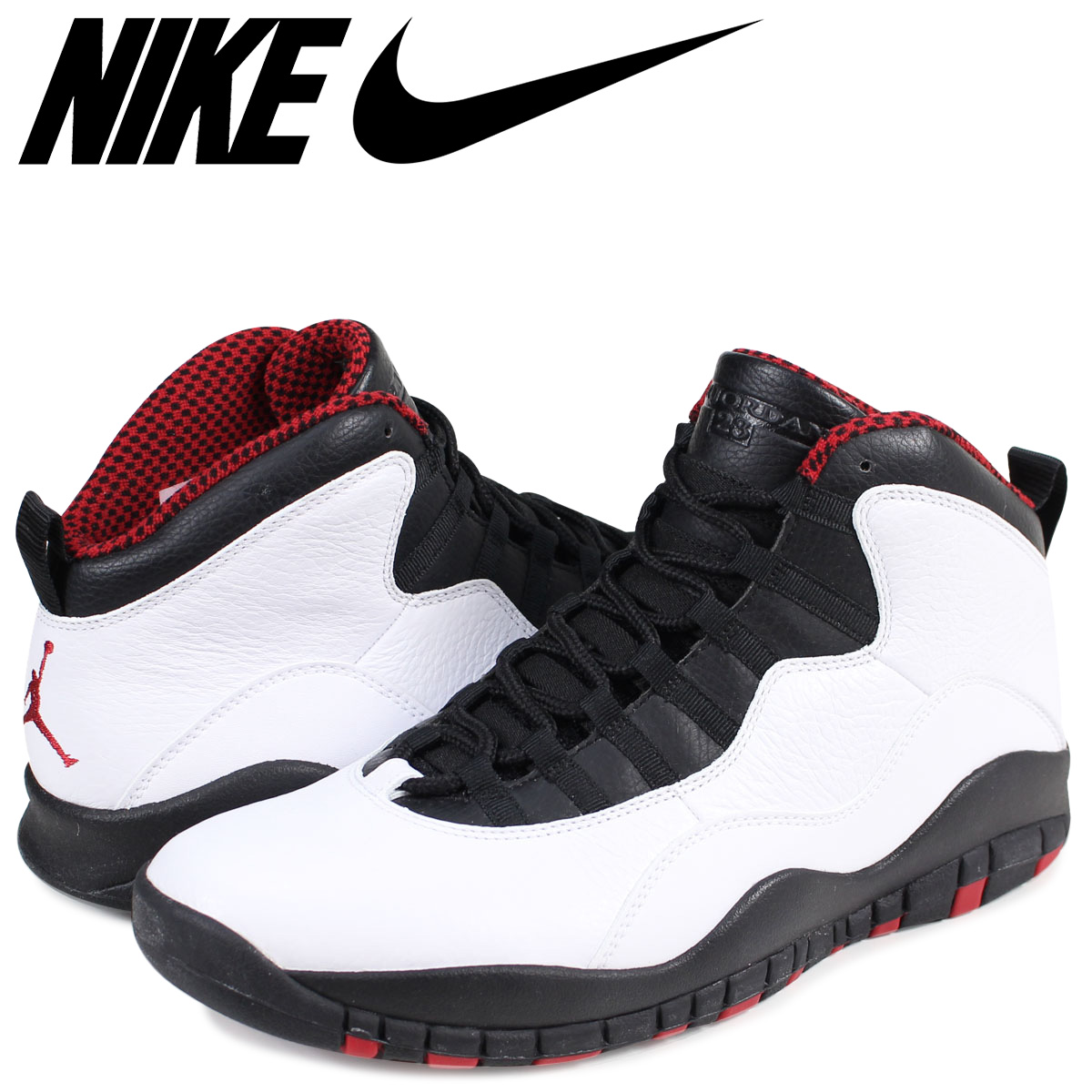 reputable site 51b3c f363a NIKE AIR JORDAN 10 RETRO CHICAGO Nike Air Jordan 10 nostalgic sneakers  310,805-100 men's white