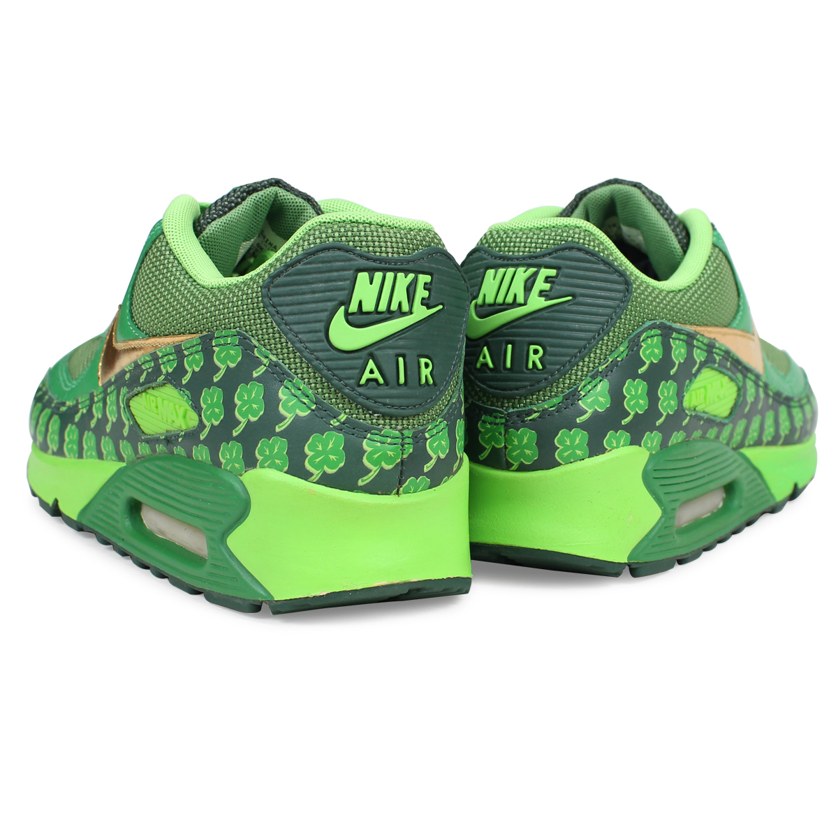 cheap for discount 64be0 93399 NIKE AIR MAX 90 QK ST PATRICK Kie Ney AMAX 90 classical music sneakers men  green 314,864-371 183