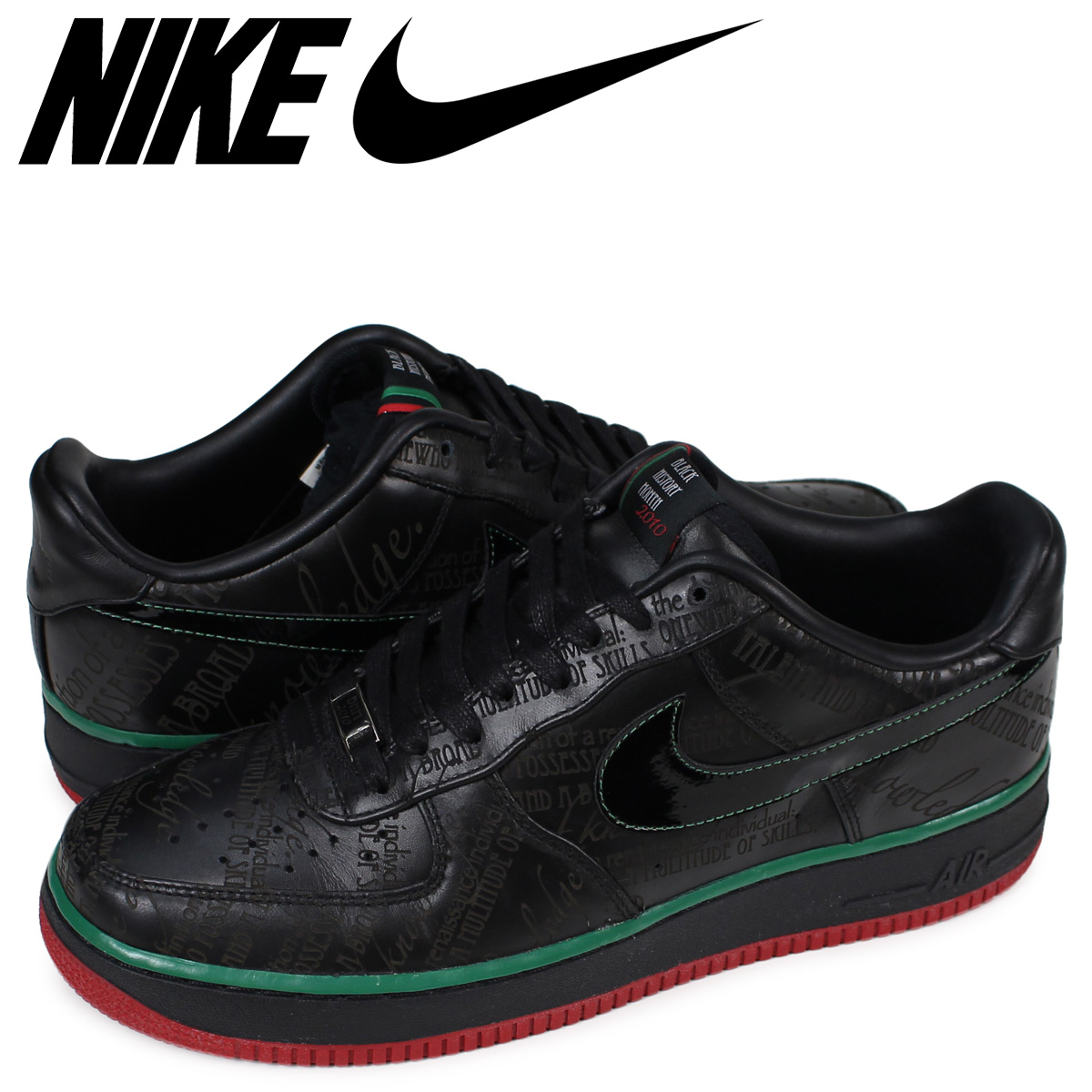 size 40 978cc bf11b NIKE AIR FORCE 1 LOW PREMIUM BLACK HISTORY Nike air force 1 sneakers  318,775-008 ...