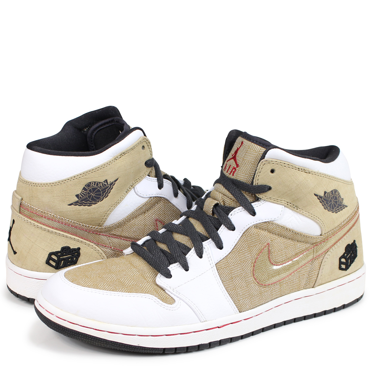 new style ec51e 98449 NIKE AIR JORDAN 1 RETRO FATHERS DAY Nike Air Jordan 1 nostalgic sneakers  men 325,514-101 beige [189]