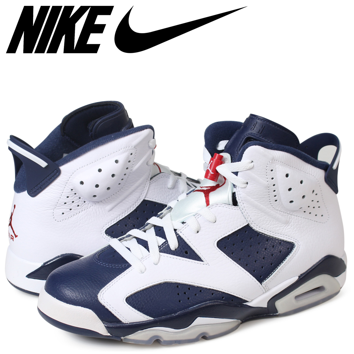 NIKE AIR JORDAN 6 RETRO OLYMPIC Nike Air Jordan 6 nostalgic sneakers  384 dd1953f13