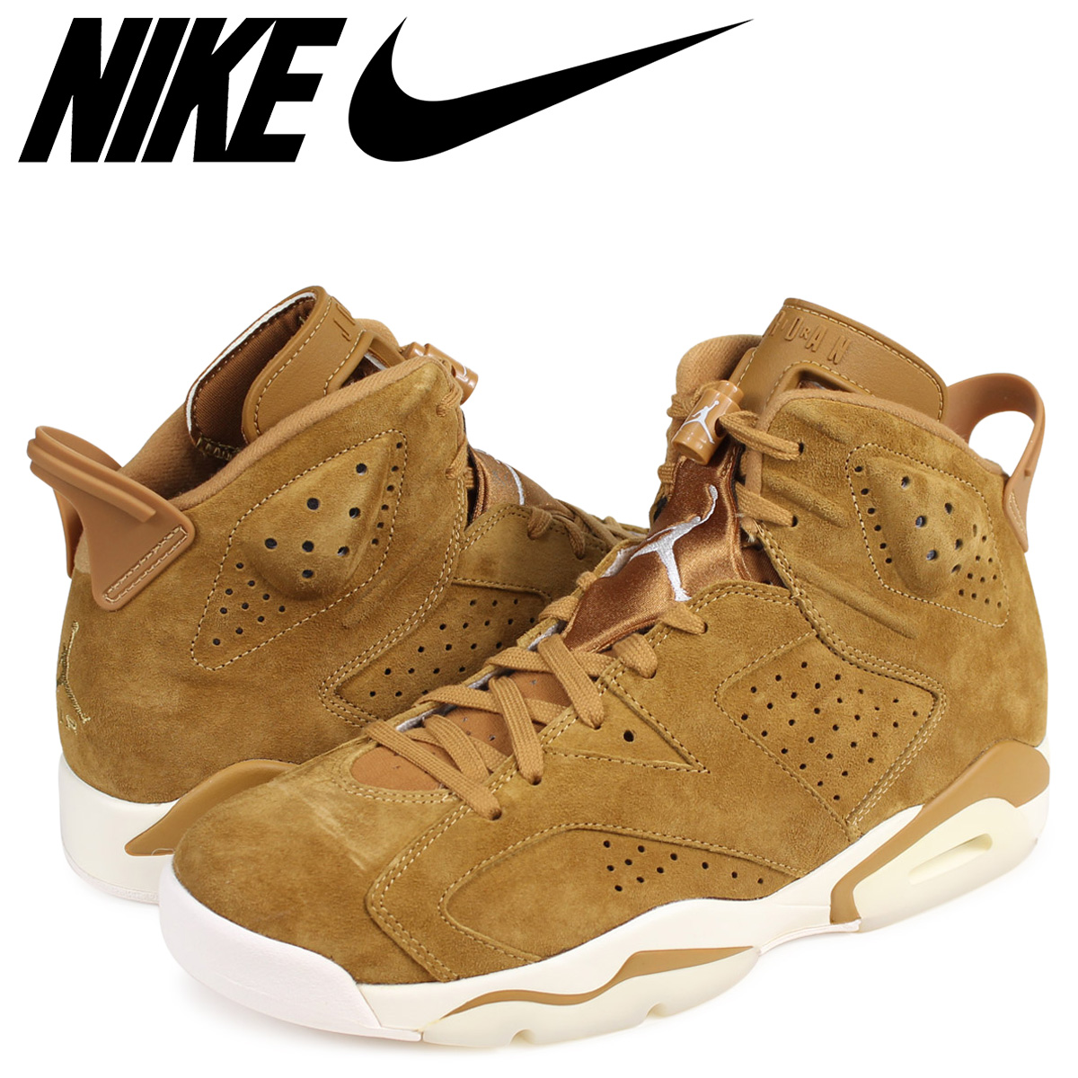 8a575dca036ba4 ALLSPORTS  NIKE AIR JORDAN 6 RETRO WHEAT Nike Air Jordan 6 nostalgic ...