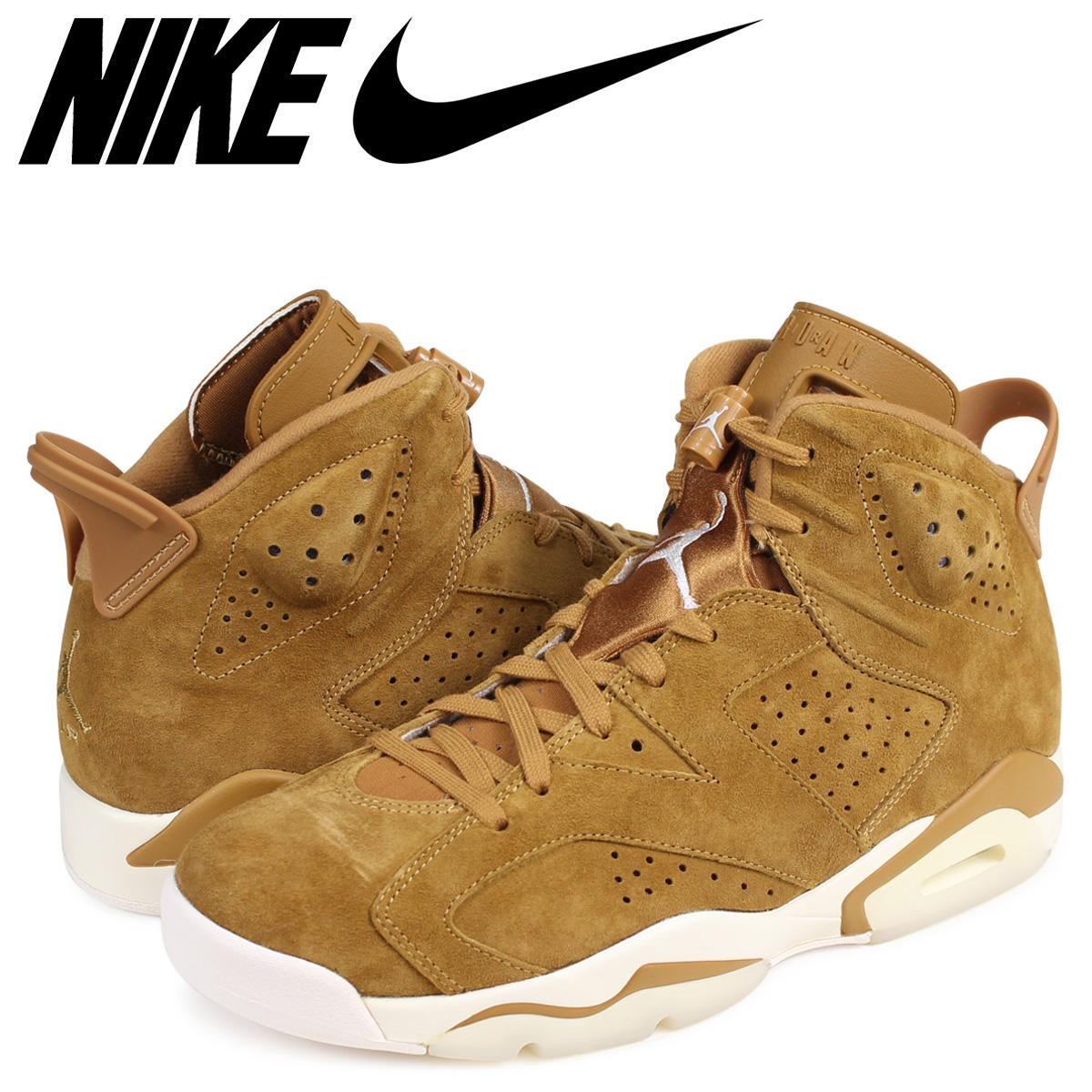 best website b5bf9 f0ab3 NIKE AIR JORDAN 6 RETRO WHEAT Nike Air Jordan 6 nostalgic sneakers  384,664-705 men's brown
