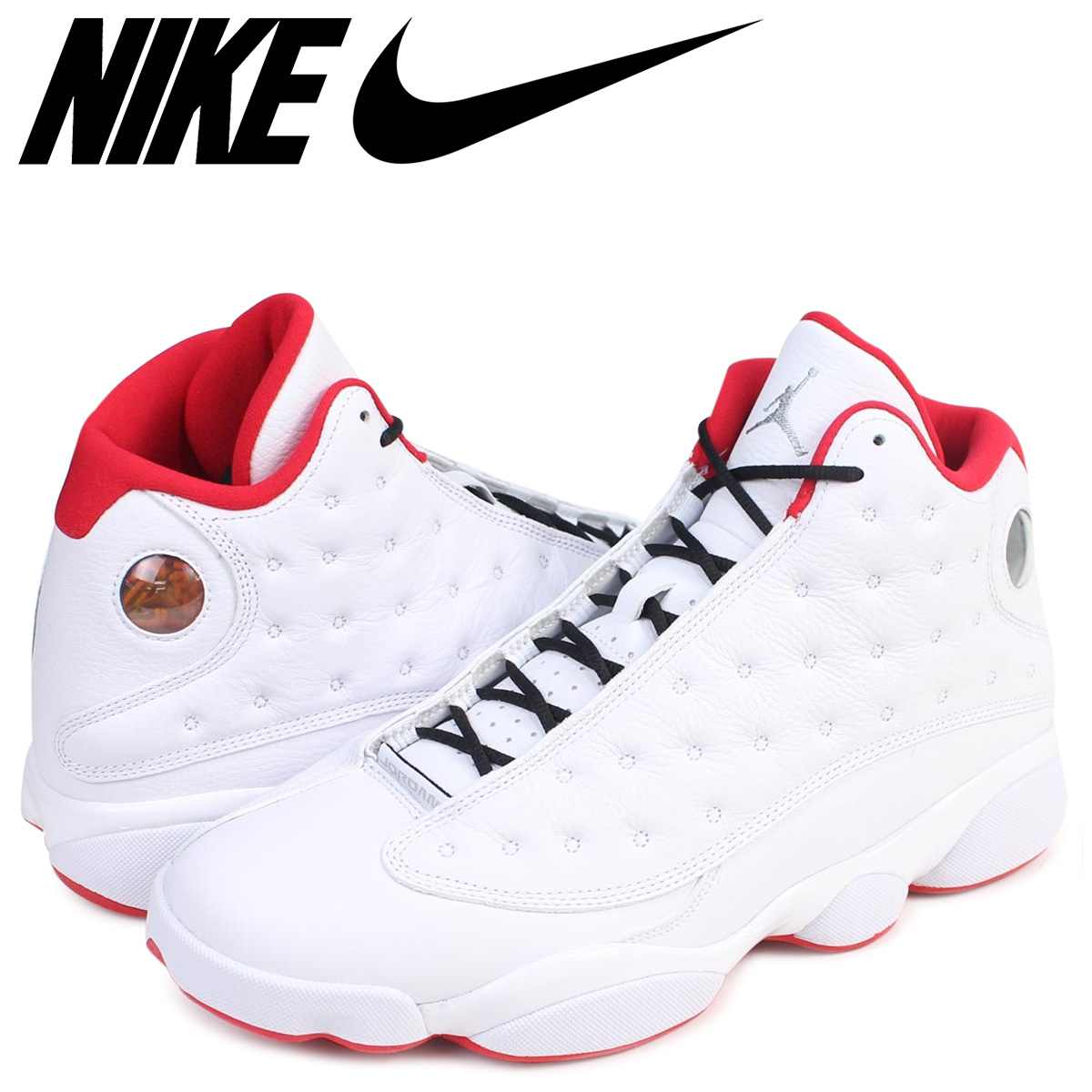 official photos b6ce0 89ca7 NIKE Nike Air Jordan 13 nostalgic sneakers AIR JORDAN 13 RETRO 414,571-103 men s  shoes white