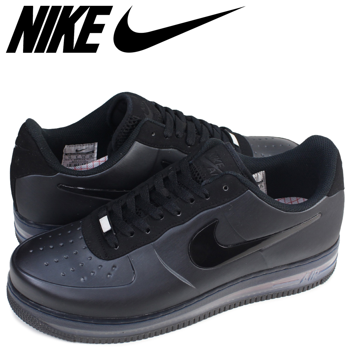 super popular 234a1 7d737 NIKE Nike air force 1 sneakers AIR FORCE 1 POSITE FL MAX QS 548,968-010 low  men shoes black