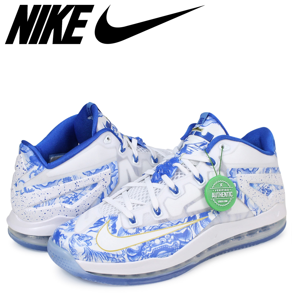 outlet store 4fff1 3a005 NIKE LEBRON XI CHINA PACK Nike Revlon 11 sneakers 683,253-144 men s white  ...