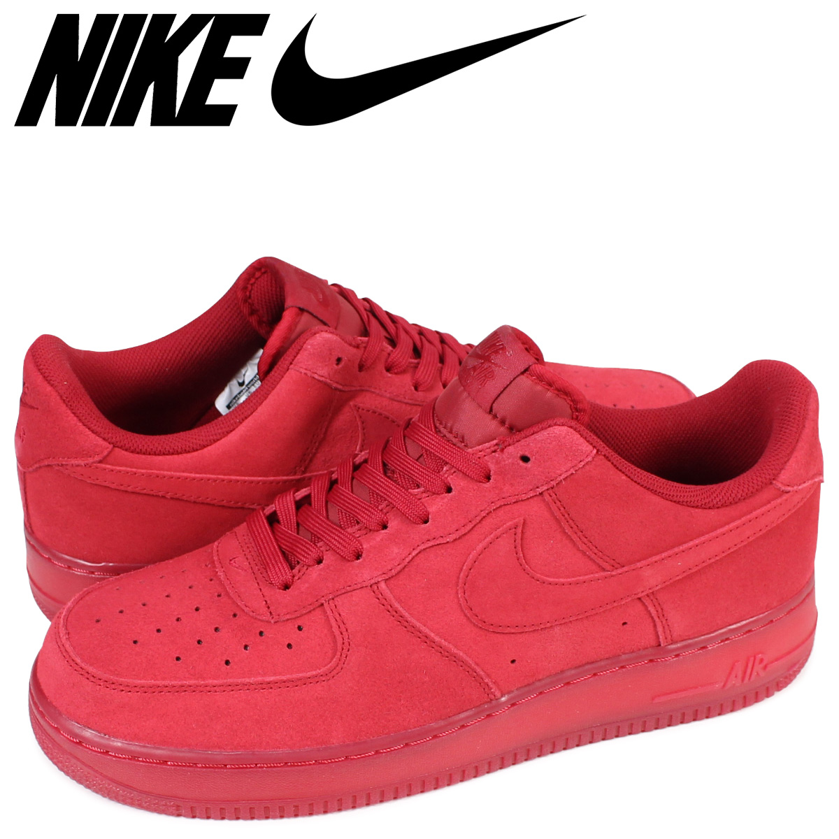 premium selection 9dcc4 0b01f NIKE AIR FORCE 1 07 LV8 RED SUEDE Nike air force 1 sneakers 718,152-601 ...