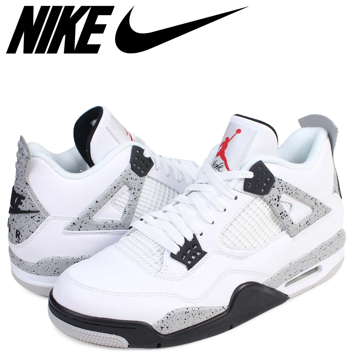 92bac85d4b3b ALLSPORTS  NIKE Nike Air Jordan 4 nostalgic sneakers AIR JORDAN 4 RETRO OG  WHITE CEMENT 840