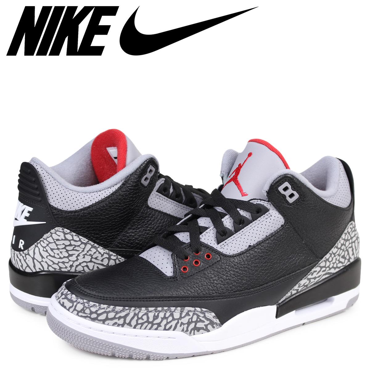 free shipping 494cc 38eec NIKE AIR JORDAN 3 RETRO OG Nike Air Jordan 3 nostalgic sneakers men black  854,262-001 [183]