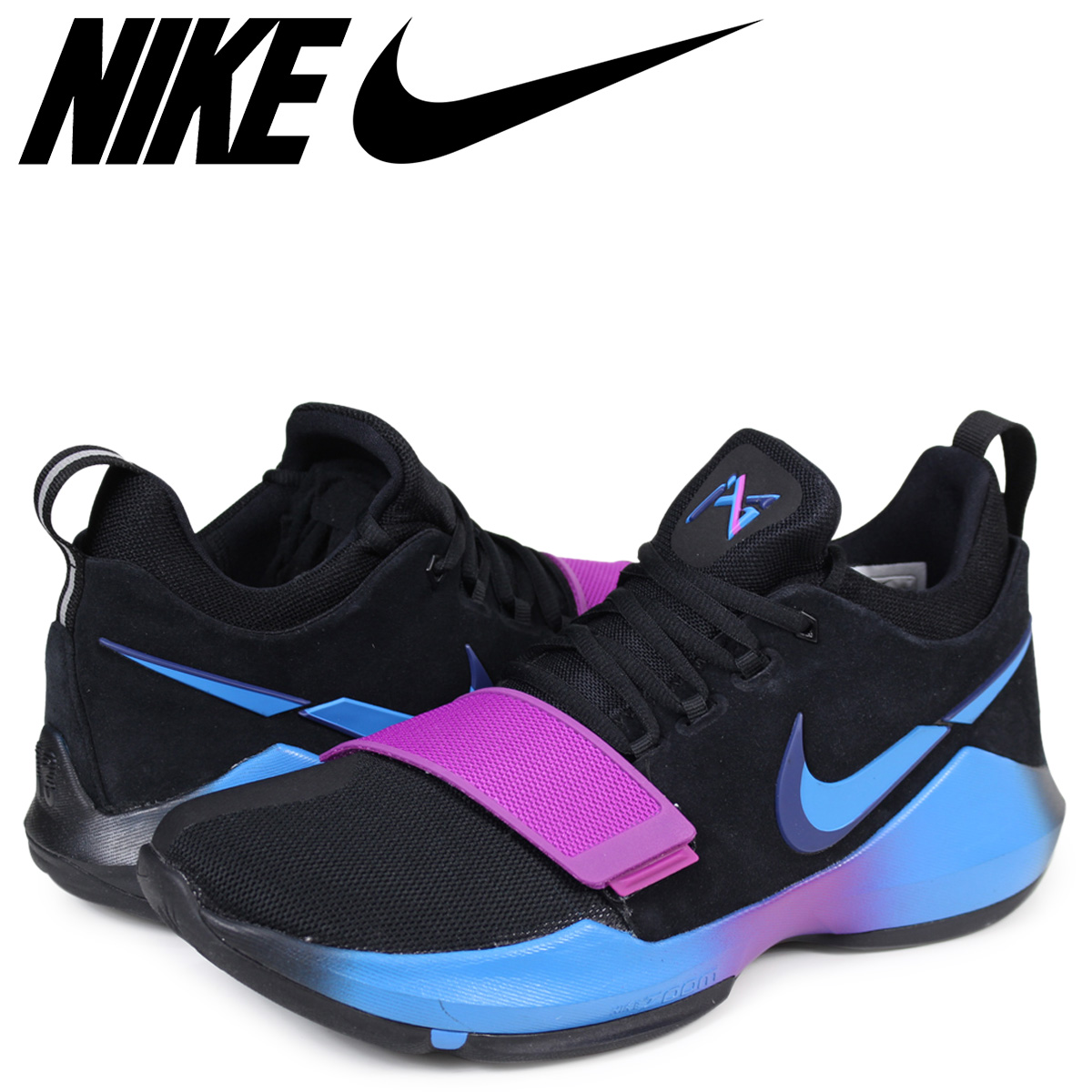 sports shoes 4d5f0 7e44d NIKE PG 1 FLIP THE SWITCH Nike PG1 sneakers men black 878,627-003 [183]