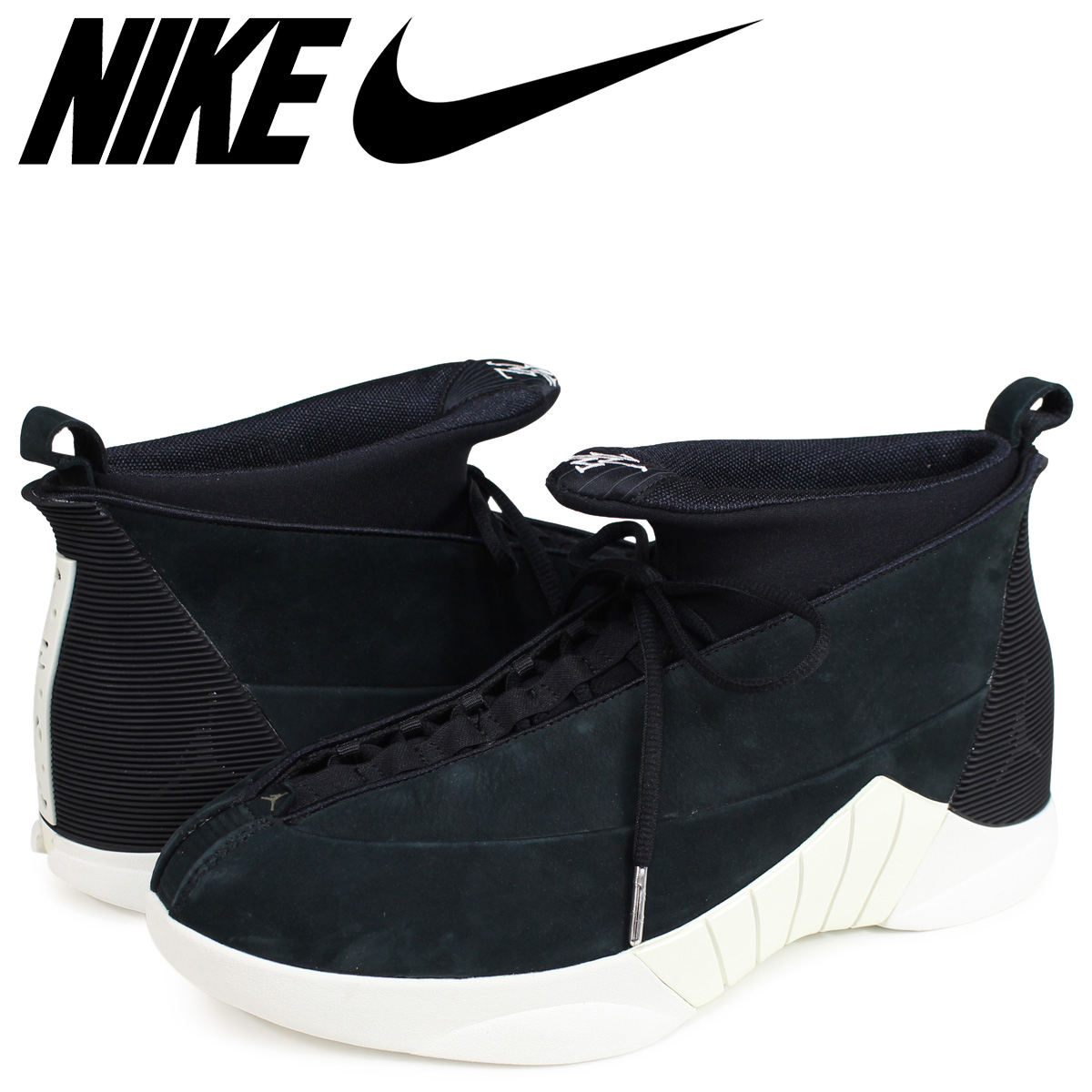 first look sneakers top brands NIKE AIR JORDAN 15 RETRO PSNY Nike Air Jordan 15 nostalgic sneakers  921,194-011 black [187]
