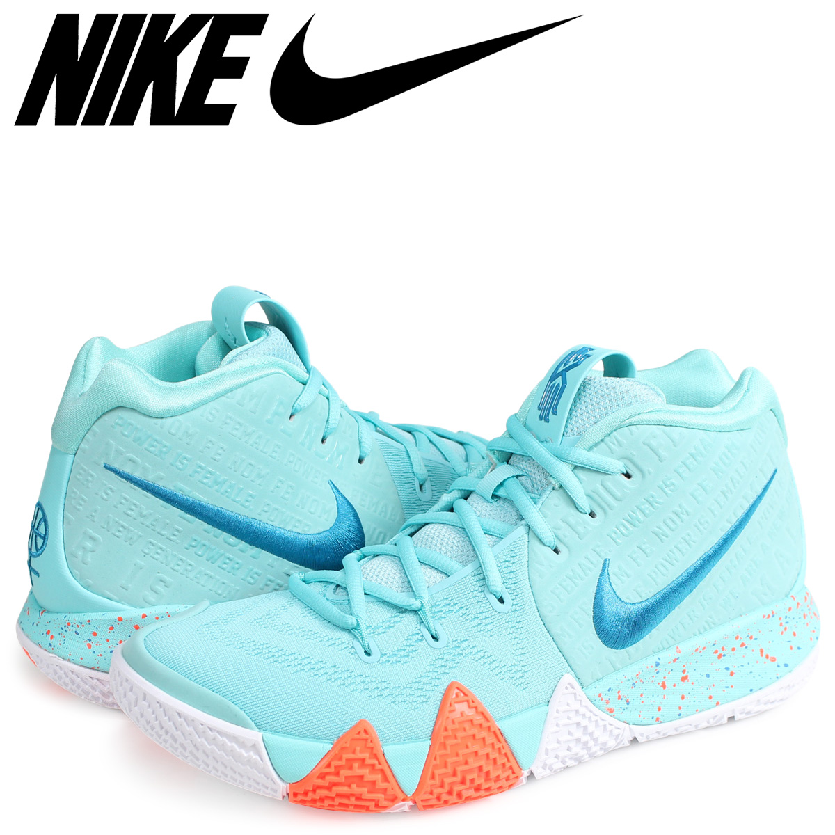 new style 6e151 c3d2e NIKE KYRIE 4 EP POWER IS FEMALE Nike Carly 4 sneakers men 943,807-402  turquoise [187]