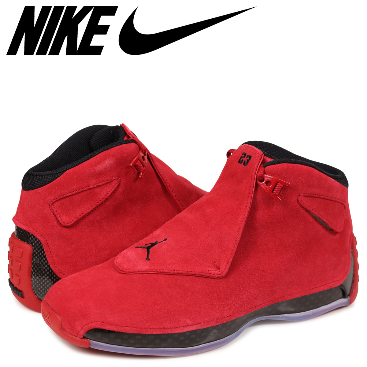 size 40 eb135 9d792 ... czech nike air jordan 18 retro nike air jordan 18 nostalgic sneakers  men aa2494 601 red