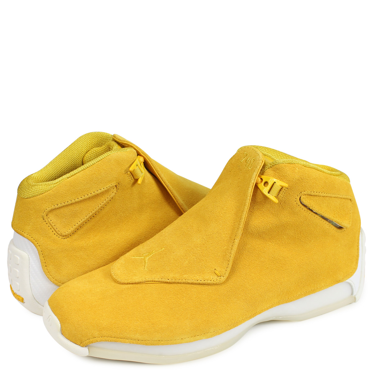 54721cb6f35370 Nike NIKE Air Jordan 18 nostalgic sneakers men AIR JORDAN 18 RETRO yellow  AA2494-701