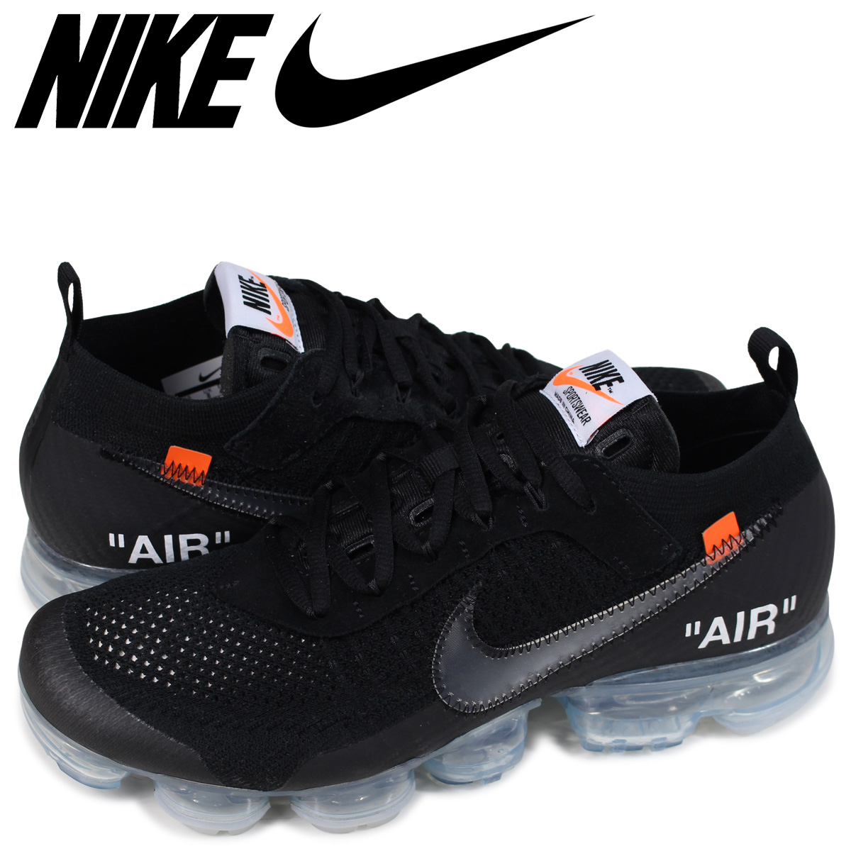 3706bbc06a9a51 ALLSPORTS  NIKE AIR VAPORMAX FLYKNIT THE TEN Nike air vapor max fried food  knit sneakers men AA3831-002 black  185
