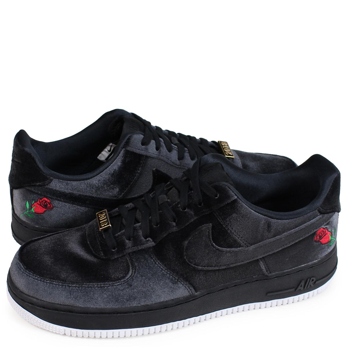 huge discount f744a c25d6 ALLSPORTS Nike NIKE air force 1 sneakers men AIR FORCE 1 07 QS VELVET  black AH8462-003  Rakuten Global Market