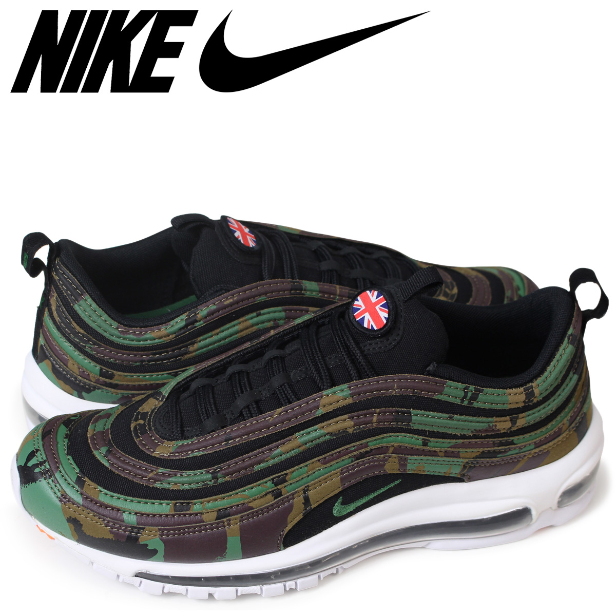 new style 7a271 928f6 NIKE AIR MAX 97 OG UK CAMO Kie Ney AMAX 97 sneakers men AJ2614-201 black  [185]
