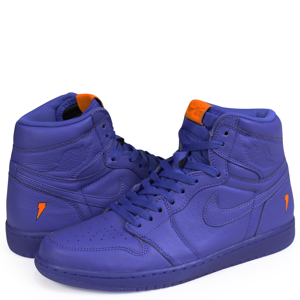 buy popular 91b97 71f36 Nike NIKE Air Jordan 1 nostalgic high sneakers men AIR JORDAN 1 RETRO HIGH  OG G8RD BE LIKE MIKE GRAPE AJ5997-555 blue  193