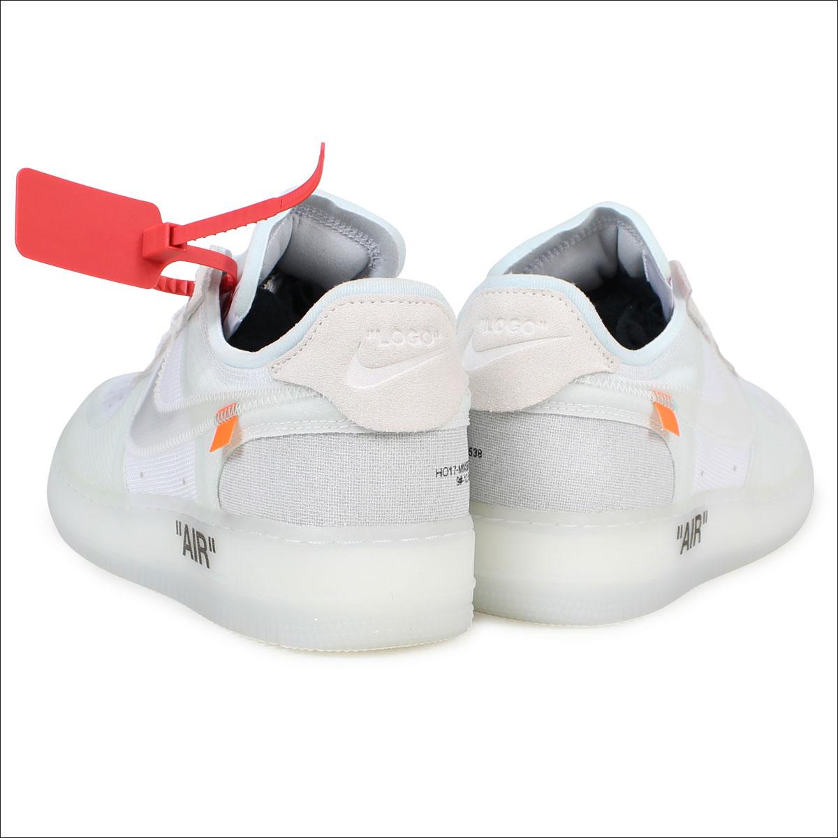 san francisco 36495 f1ca6 NIKE AIR FORCE 1 LOW VIRGIL ABLOH THE TEN Nike OFF-WHITE air force 1  sneakers AO4606-100 men white