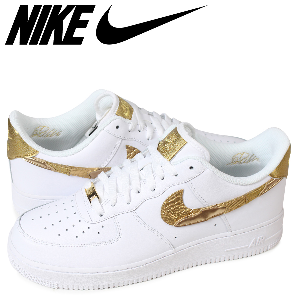 énorme réduction c9421 2ca71 NIKE AIR FORCE 1 CR7 GOLDEN PATCHWORK Nike air force 1 07 sneakers men  AQ0666-100 white [185]