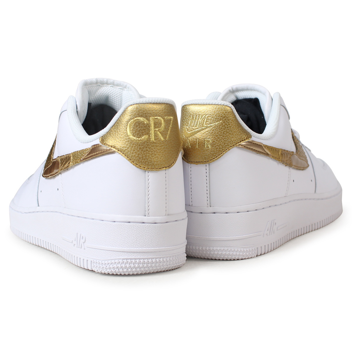 NIKE AIR FORCE 1 CR7 GOLDEN PATCHWORK Nike air force 1 07 sneakers men  AQ0666-100 white  185  aea3b2d61