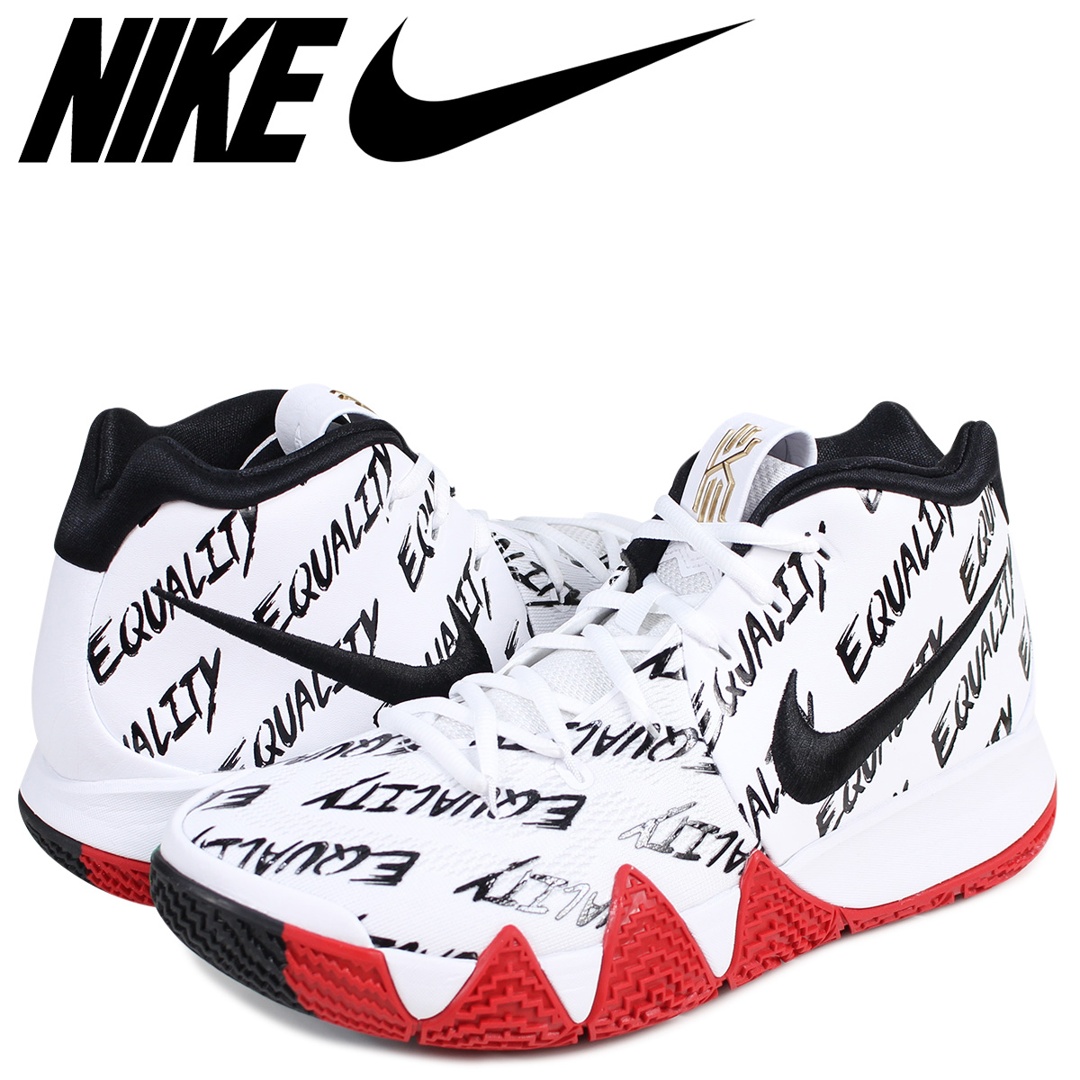 sale retailer 20afc e0489 NIKE KYRIE 4 BHM EP Nike chi Lee 4 sneakers men AQ9231-900 chi Lee Irving  white