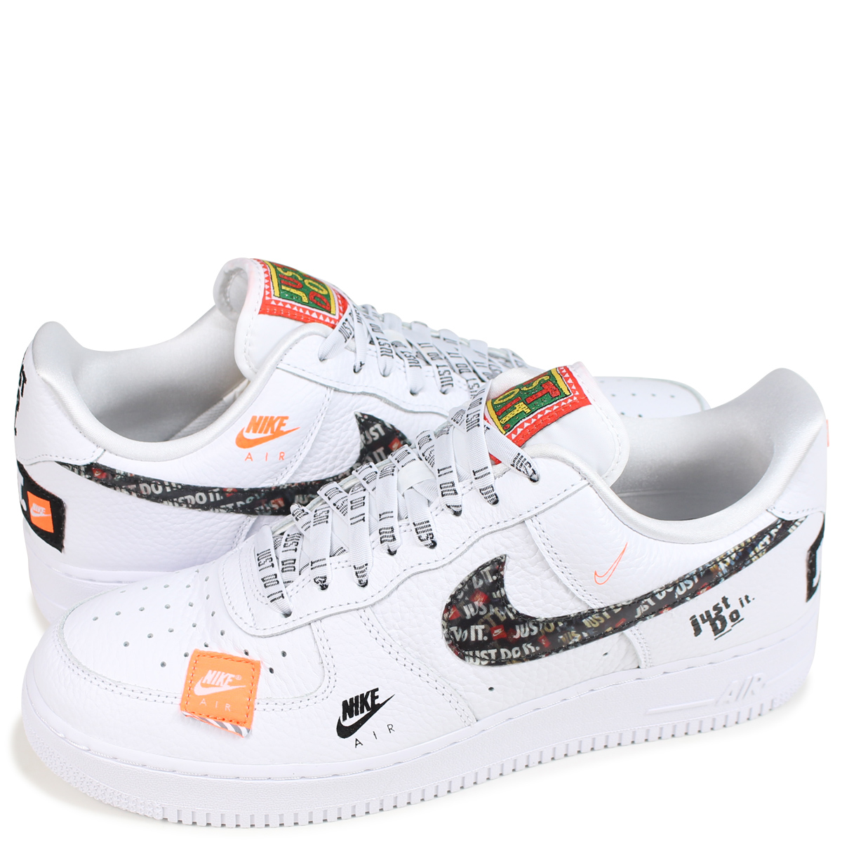 NIKE AIR FORCE 1 07 PREMIUM JUST DO IT Nike air force 1 sneakers men AR7719 100 white [189]