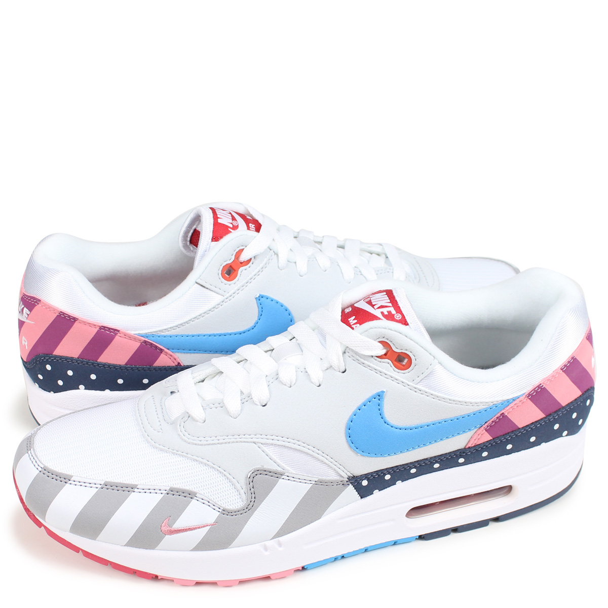 finest selection 4e4b3 1f7d6 NIKE AIR MAX 1 PARRA Kie Ney AMAX 1 sneakers men AT3057-100 white  189