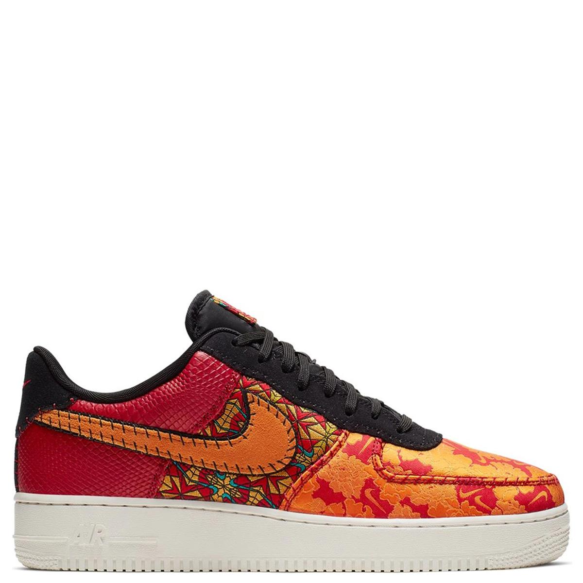 At4144 601196 07 Premium Nike Force 1 Air Men Sneakers Orange 3 NOm8wnv0