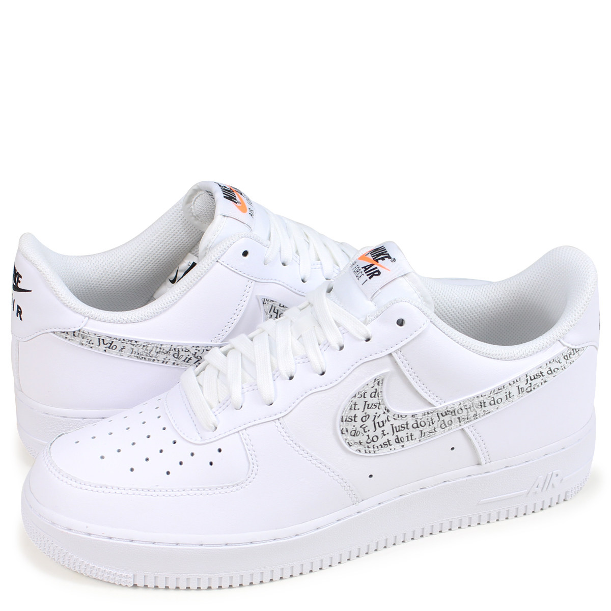 nike air force 1 just do it mens white