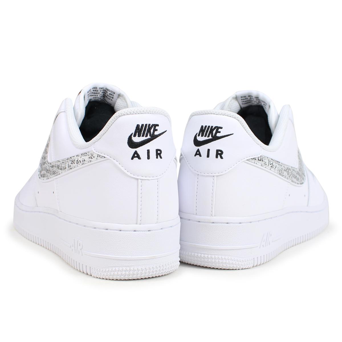 NIKE AIR FORCE 1 07 LV8 JUST DO IT LNTC Nike air force 1 sneakers men BQ5361 100 white [189]