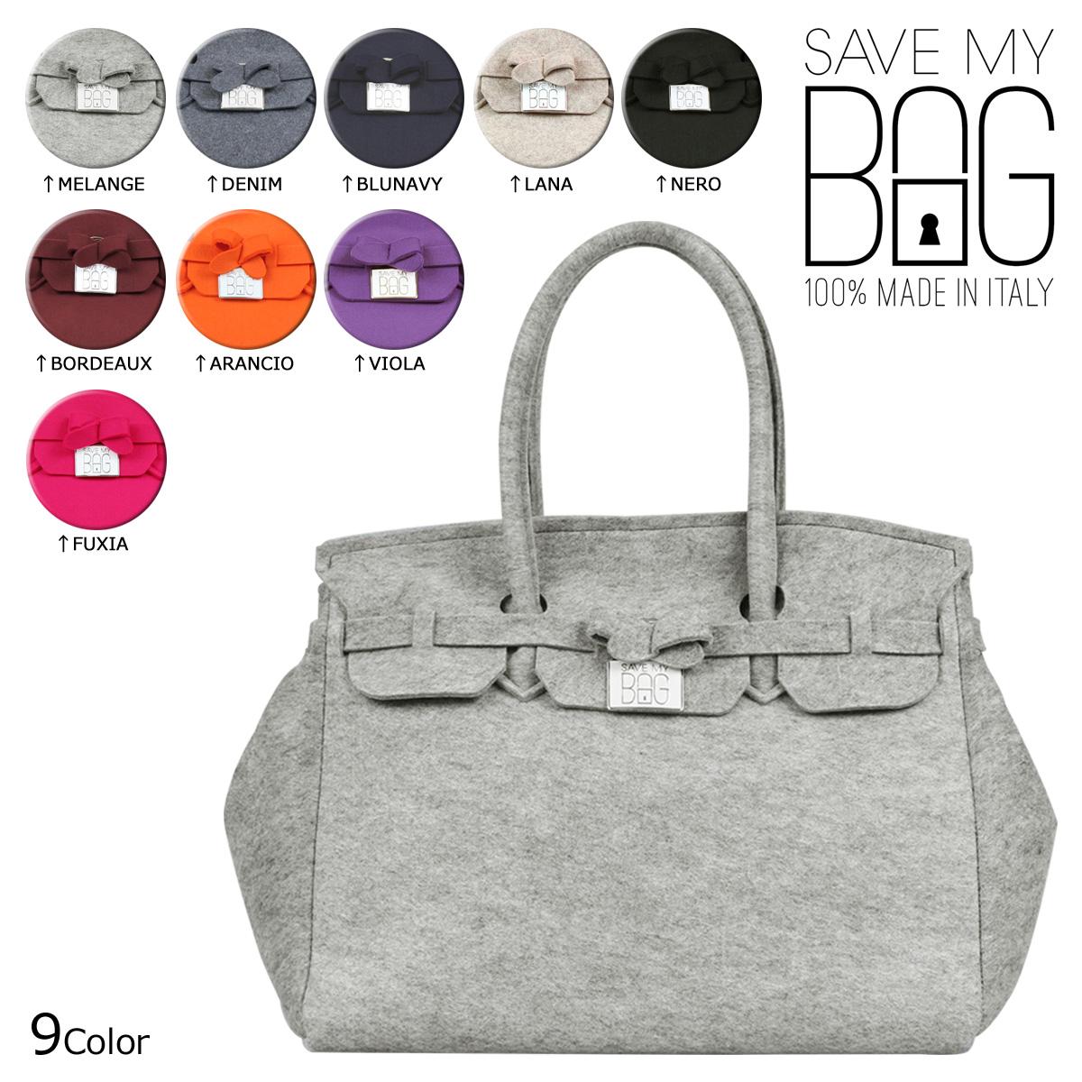 Save My Bag May Handbag Tote Icon Feltro Made In Italy M Size Las