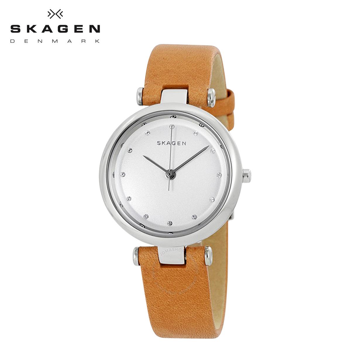 スカーゲン SKAGEN 腕時計 レディース 時計 レザー TANJA ターニャ SKW2455 ブラウン 防水 【あす楽対象外】【返品不可】