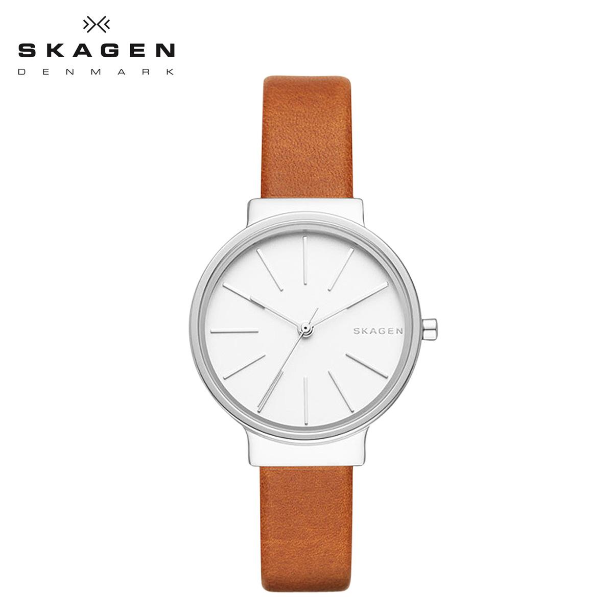 スカーゲン SKAGEN 腕時計 レディース 時計 レザー ANCHER アンカー SKW2479 ブラウン 防水 【あす楽対象外】【返品不可】