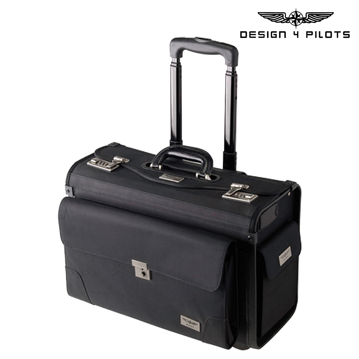 Design 4 Pilots Men S Flight Bag Carry Suitcase Black Pilot Case Airliner Airplane Toy Excluded