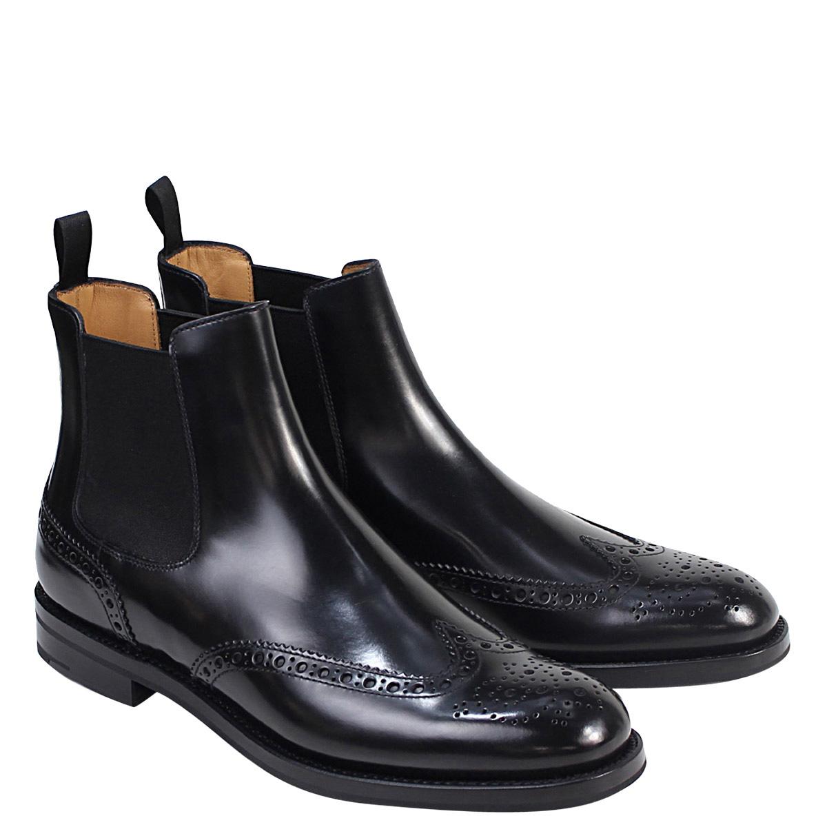【訳あり】 【BOXなし】 チャーチ Church's 靴 ケッツビー サイドゴア チェルシーブーツ レディース KETSBY WG POLISH BINDER CALF ブラック 黒 8706 DT0001 【返品不可】 [195]