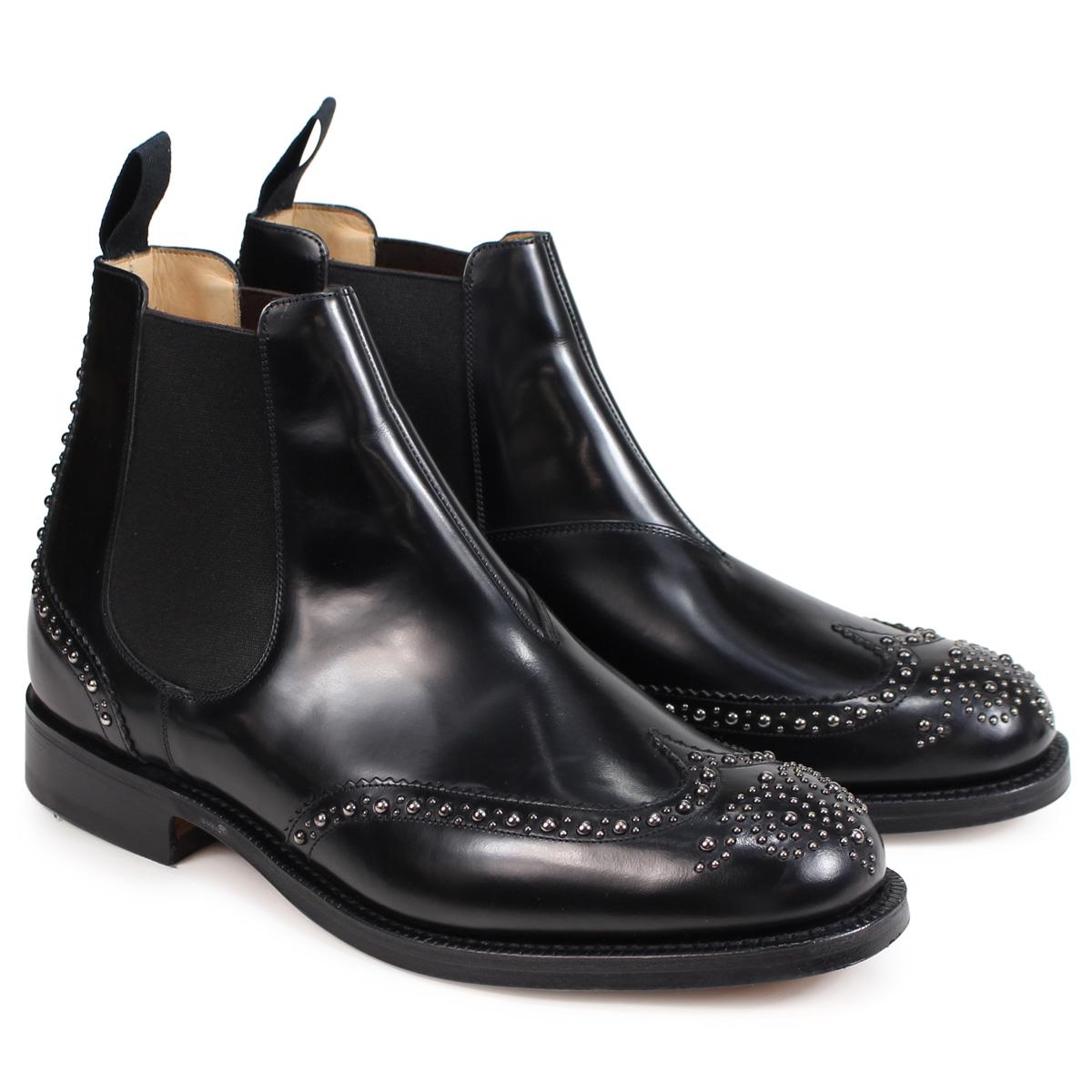 【訳あり】 【BOXなし】 チャーチ Churchs 靴 ケッツビー 81 ブーツ サイドゴア ショートブーツ メンズ KETSBY 81 MET POLISHED BINDER ブラック 黒 ETB009 【返品不可】