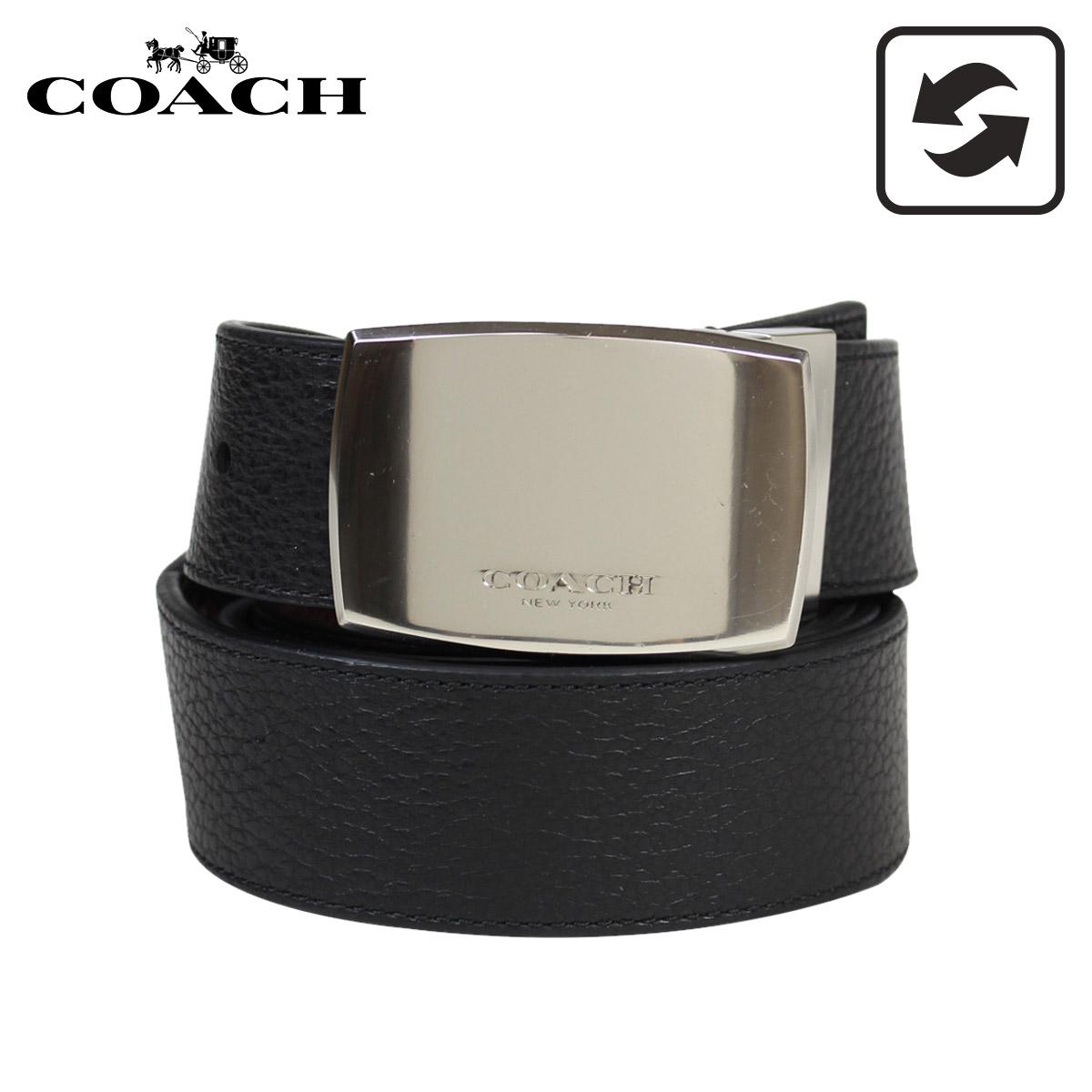 【訳あり】 COACH F64842 コーチ ベルト レザーベルト メンズ リバーシブル 本革 ブラック ブラウン 黒 【返品不可】