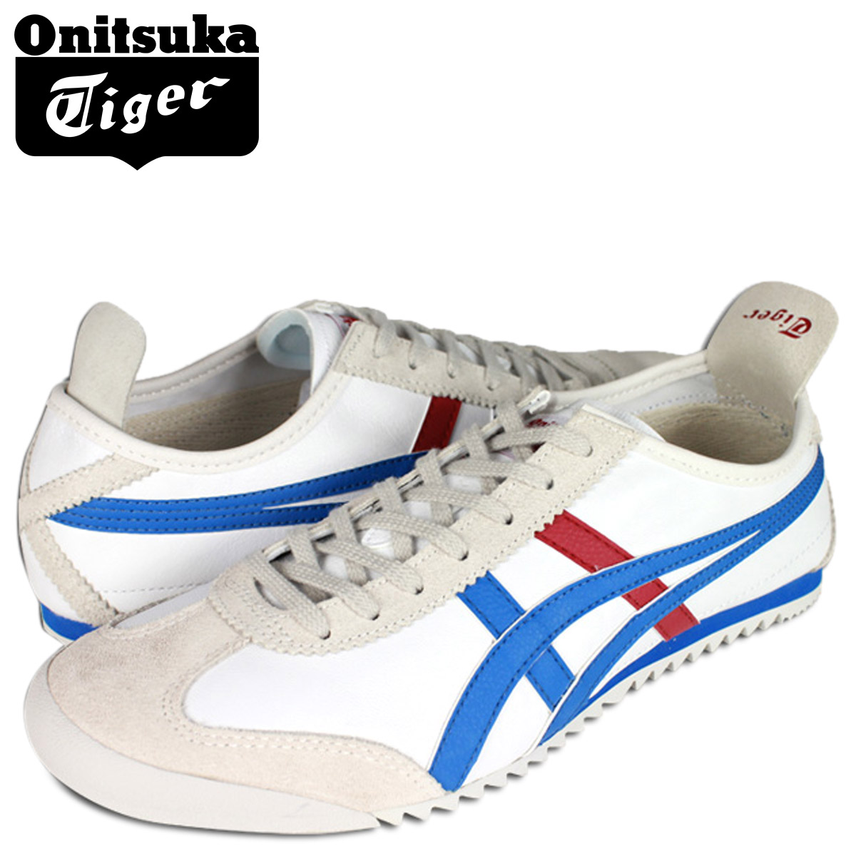 new style a3714 6a659 [SOLD OUT] ONITSUKA Tiger ASICs Onitsuka Tiger asics sneakers white-Royal  Blue D 012L-0143 MEXIC 66 DX LE mens