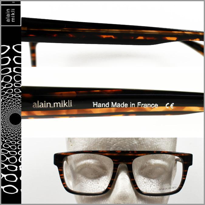 arammikuri alain mikli眼鏡眼鏡棕色黑色BWN-32 AL0756 0088單元框架太陽眼鏡人分歧D
