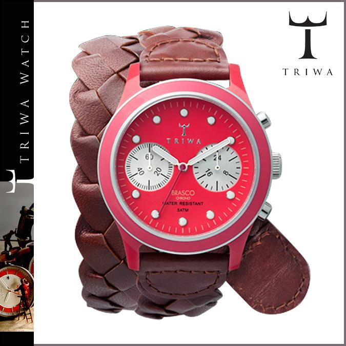 三 TRIWA 新手表神龙公司 109 FUXY 布拉斯秒表计时皮革男士女式 2013