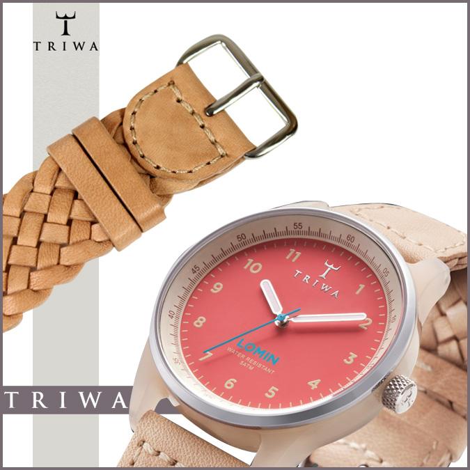 三 TRIWA 手表 [珊瑚] LOAC109 珊瑚 LOMIN 特恩舍皮革男士女式 2013年新珊瑚 [正常]
