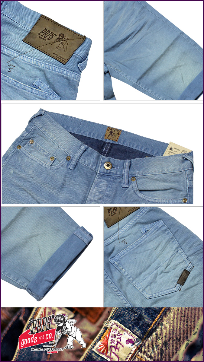 ピーアールピーエス PRPS denim E63P90ESV RAMBLER SKINNY FIT cotton men's 2013-new