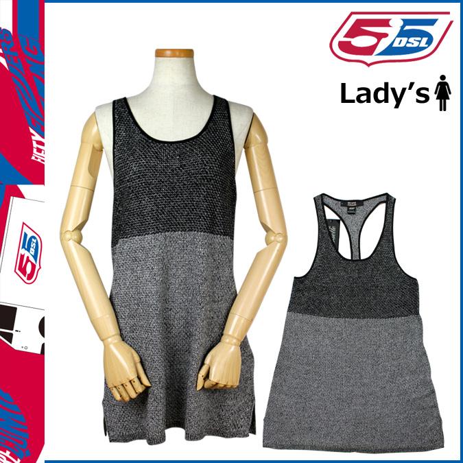Fifty five diesel 55 DSL DIESEL one piece dress in gray DRESS dress women [genuine]