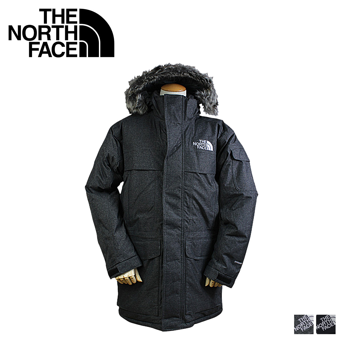 724925959 [SOLD OUT] the MCMURDO PARKA mens, North face THE NORTH FACE mountain parka  in black gray A8XZ [regular]