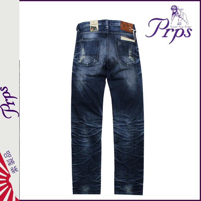 藍巴勒海峽上道路男式牛仔褲,牛仔褲,PRPS Pierre 盧比 [靛藍]